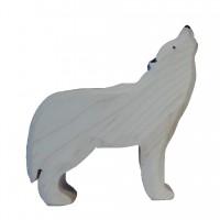 Loup blanc hurlant