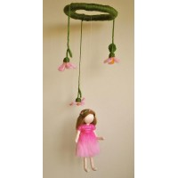 Wool fairy mobile