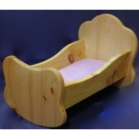Doll's cradle natural wood