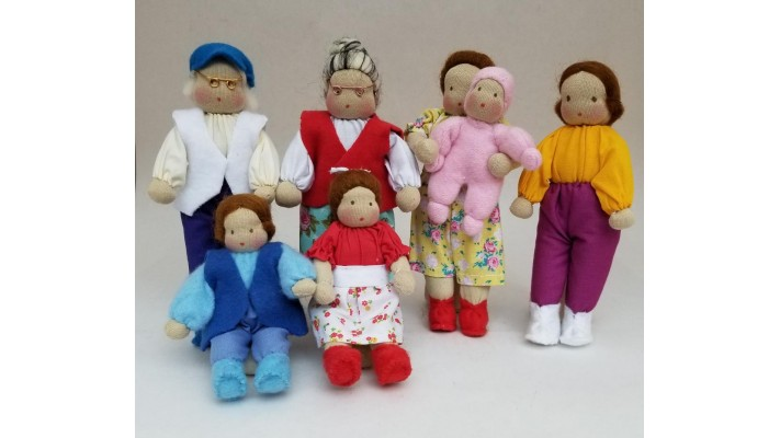Dolls (mini) from Brazil, family