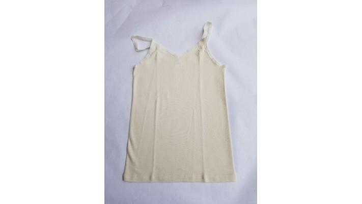 Sous-vêtements laine et soie pour femme, camisole à bretelles fines