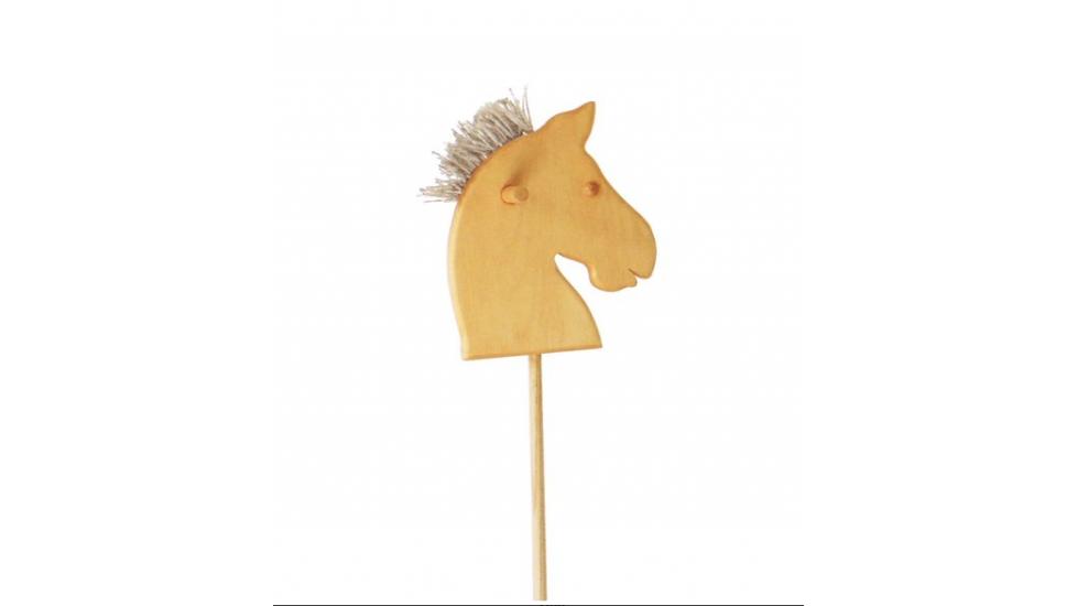 Cheval de bois sur bâton