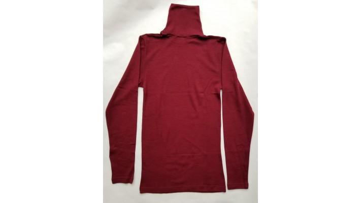 Sous-vêtements laine et soie pour hommes et femme, manches longues, col roulé