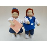 Dolls (mini) from Brazil, schoolchildren