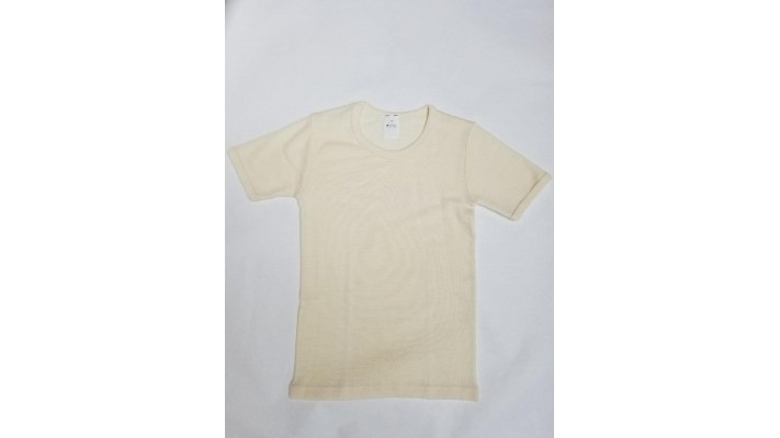 Sous-vêtements laine et soie pour enfants à manches courtes