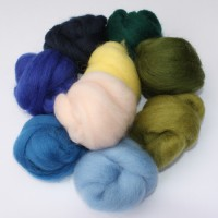 Dyed Corriedale Roving