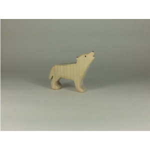 Wolf howling white cub