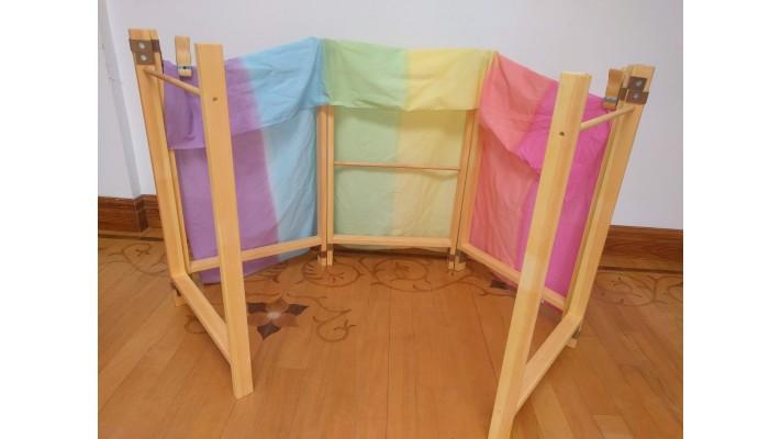 Structure de bois franc pliable (haute)